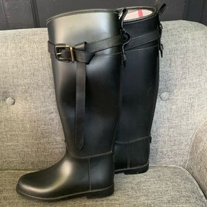 Burberry Rain Boots w/leather strap